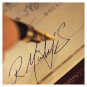Picture of a check signature.